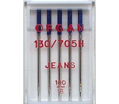Иглы Organ для джинсы №100 (5 шт.)