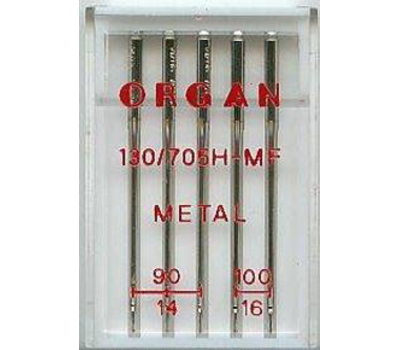 Иглы Organ  для работы с металлизированной нитью (5шт.)