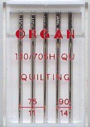 Иглы Organ для  квилтинга №75-90 (5 шт.)