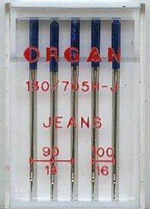 Иглы Organ для джинсы №90-100 (5 шт.)