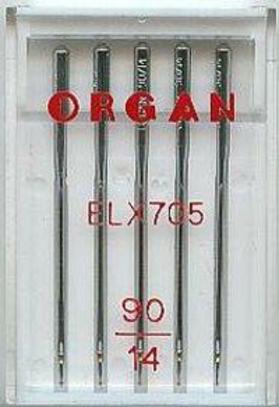 Иглы Organ для оверлоков и распошивальных машин №90 (5 шт.)