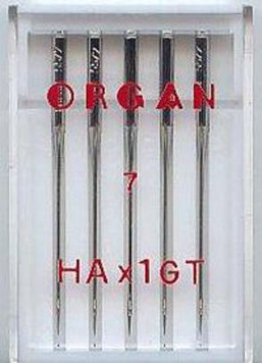 Иглы Organ для шёлка №55 (5 шт.)