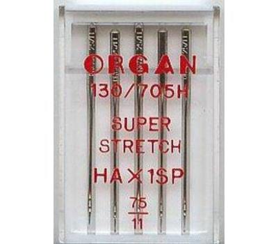 Иглы Organ Супер стрейч №75 (5 шт.)