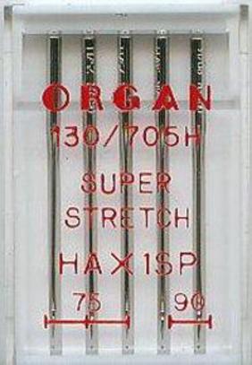 Иглы Organ Супер стрейч №75-90 (5 шт.)