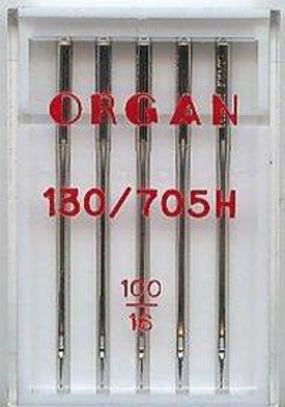 Иглы Organ универсальные №100 (5 шт.)