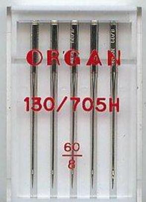Иглы Organ универсальные №60 (5 шт.)