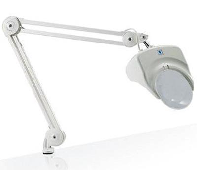 Лампа с лупой с креплением Daylight Company белая (арт. D 21000)