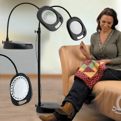 Лупа-лампа настольная/напольная светодиодная Daylight Company (арт. EN1091)