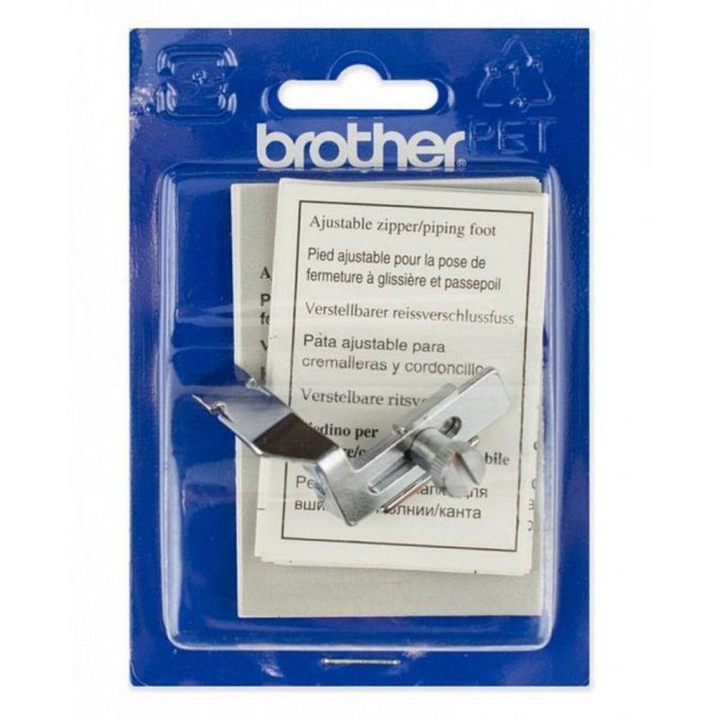 Лапка для швейных машин Brother для вшивания молнии/канта регулируемая (арт. F036N)