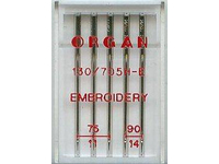 Иглы Organ вышивальные №75-90 (5 шт.)