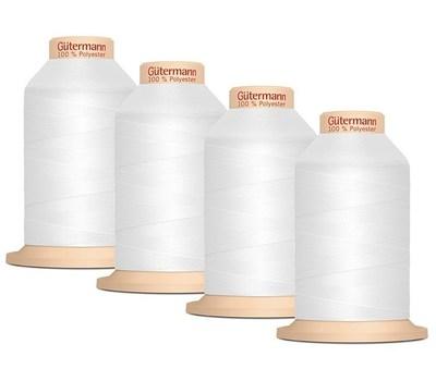 Комплект нитей для оверлока Gütermann Tera 180, 4 бобины по 2000 м, цвет - 800