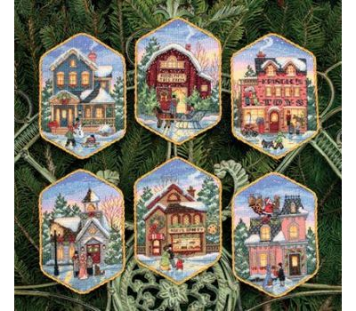 8785-DMS Christmas Village Ornaments