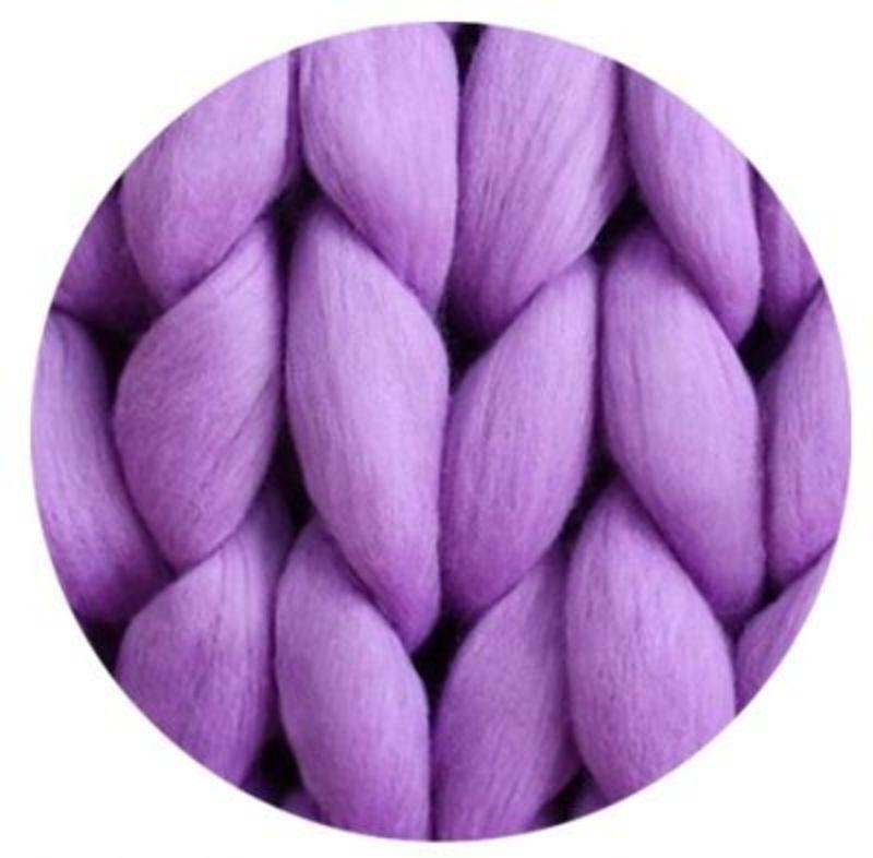 Пряжа для пледов Цвет. Лиловый