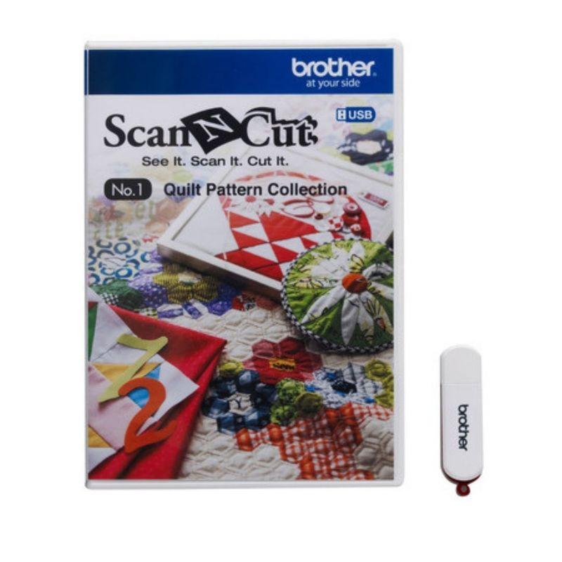 USB с дизайнами для квилтинга для плоттера Brother CM 840 ScanNCut CAUSB1