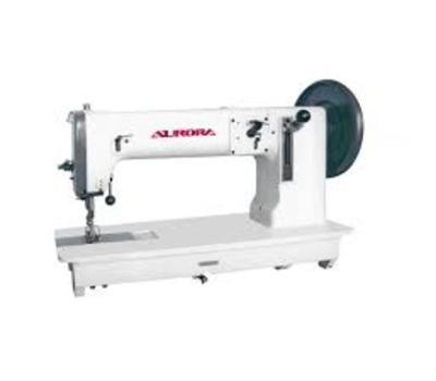 Прямострочная промышленная швейная машина для сверхтяжелых материалов A-243 Aurora Прямострочная машина челночного стежка с тройным (унисонным) продвижением и увеличенным челноком для сверхтяжелых материалов. Аналог Juki TNU-243 Промышленные швейные машин