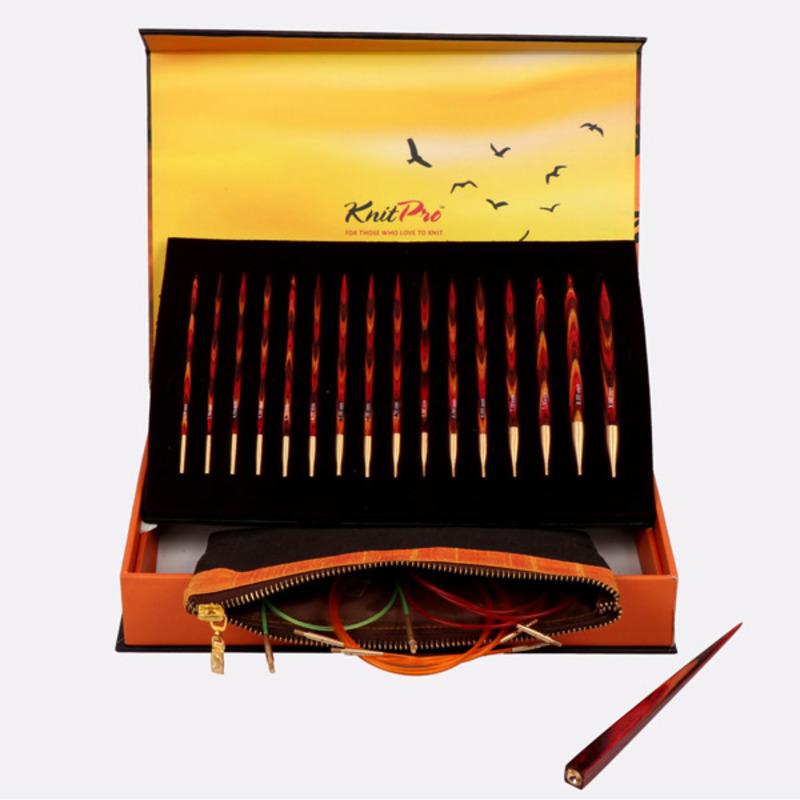 """Подарочный набор """"The Golden Light"""" съемных спиц """"Symfonie"""", KnitPro, Индия"""