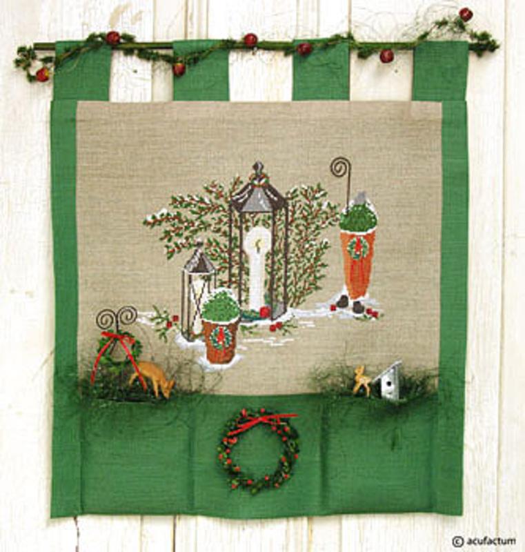 "Набор для вышивания ""Зимний сад - фонари"" 28*25см, Acufactum Ute Menze, Германия"