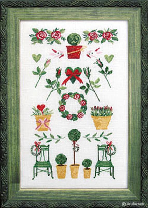"""Набор для вышивания """"Сэмплер из роз"""" 16,5*28,5см, Acufactum Ute Menze, Германия"""
