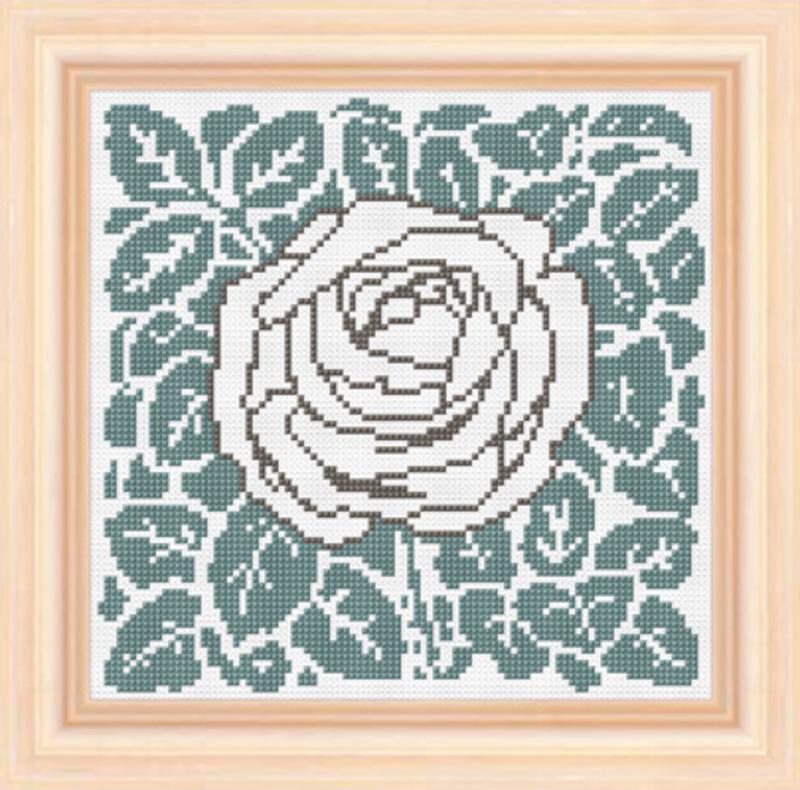 """Набор для вышивания """"Роза"""" 16*16см, Acufactum Ute Menze, Германия"""