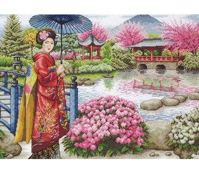 """Набор для вышивания Maia """"The Japanese Garden"""" 30*40см, MEZ, Венгрия"""