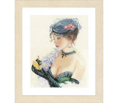 """Набор для вышивания """"Lady with Lipstick"""" 33*45см, Vervaco, Бельгия"""