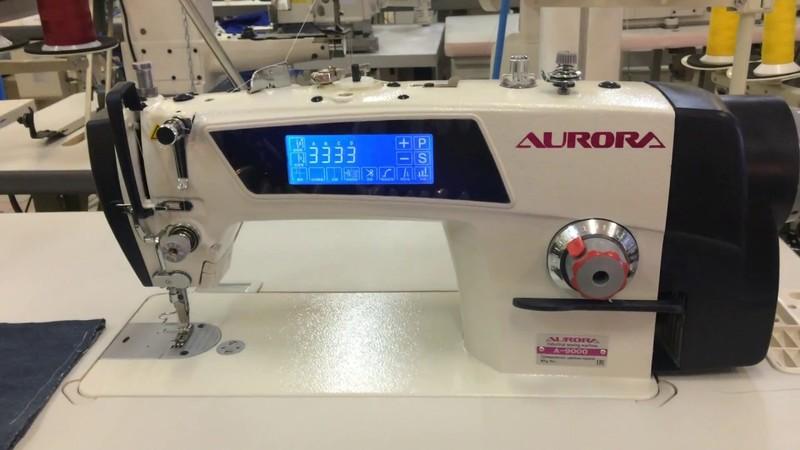 Прямострочная швейная машина с электронными функциями Aurora A-9000