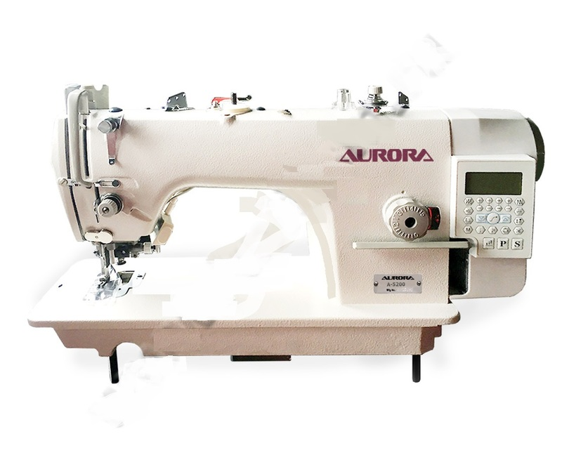 Прямострочная швейная машина с ножом обрезки края материала Aurora A-5200-D3