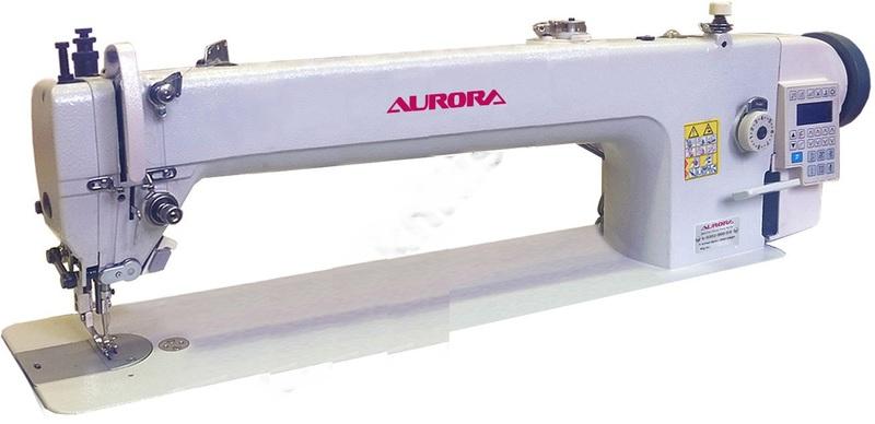Прямострочная промышленная швейная машина с шагающей лапкой Aurora A-0302-560-D4 с прямым приводом
