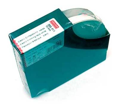 995411 Эластичная лента-д/отделки края трикотажных изделий(резинка), 25м, 15мм, белая, 87%палиам
