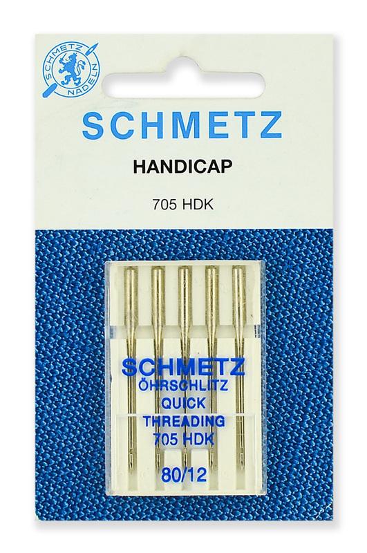 Иглы легковдеваемые №80, Schmetz
