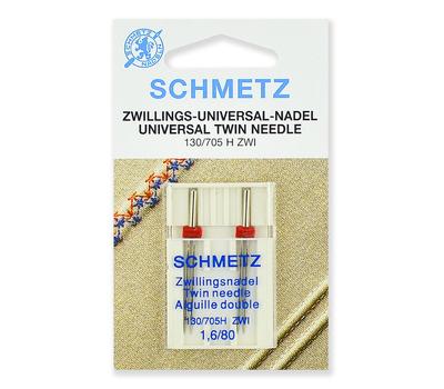 Иглы стандартные двойные ZWI № 80/1.6, Schmetz