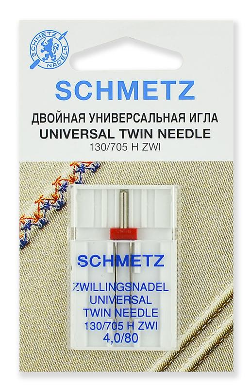 Иглы стандартные двойные № 80/4.0, Schmetz