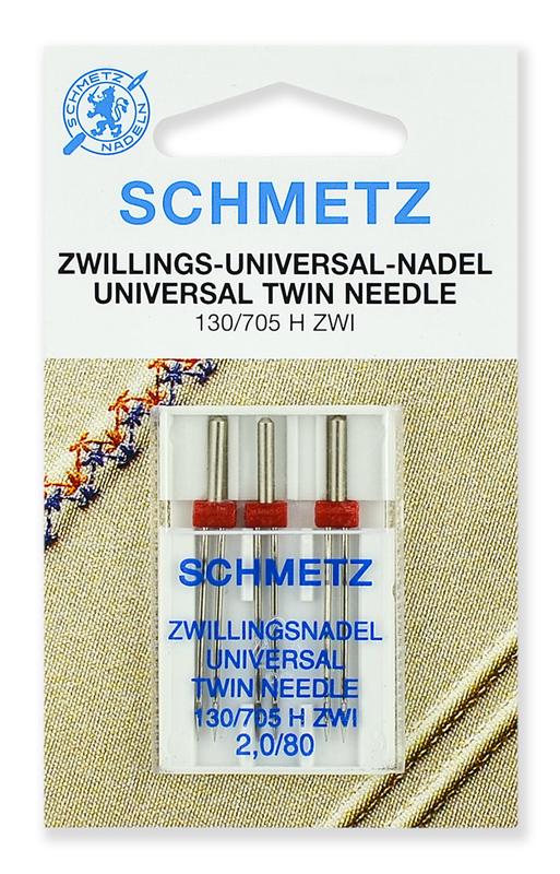 Иглы стандартные двойные 80/2.0, Schmetz