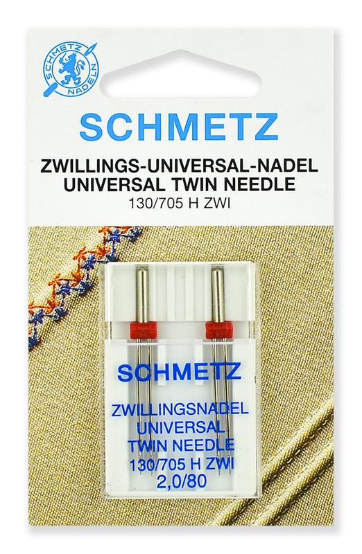 Иглы стандартные двойные № 80/2.0, Schmetz