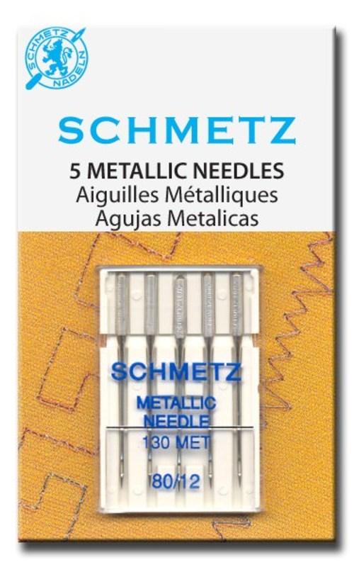 Иглы металлизированные №80, Schmetz
