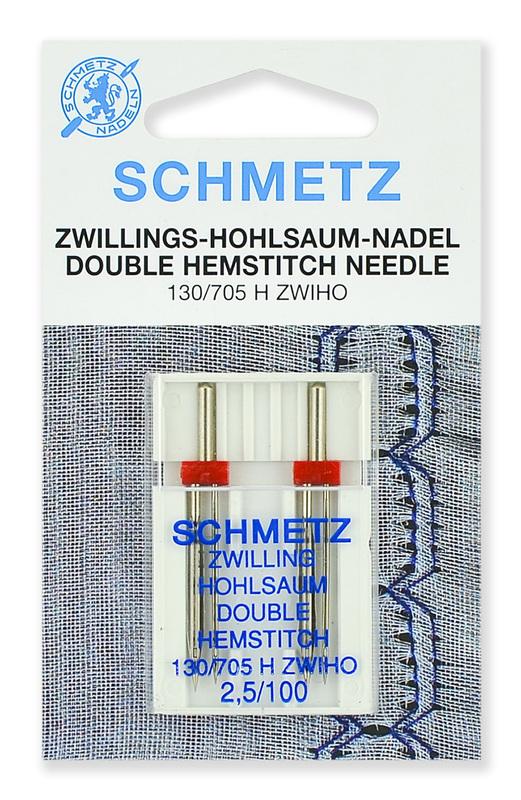 Иглы для мережки двойные № 100/2.5, Schmetz