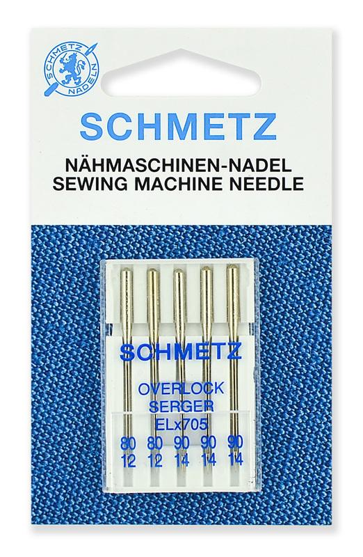 Иглы для плоскошовных машин, хромированные набор, Schmetz
