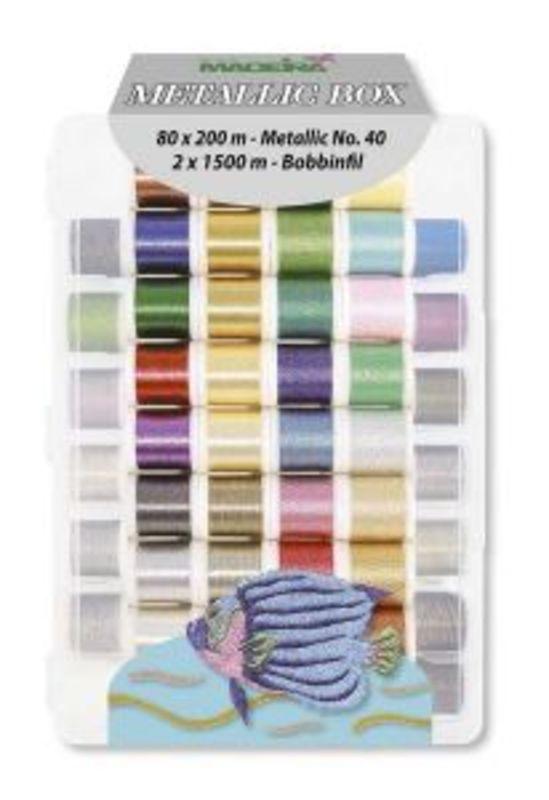 Набор ниток METALLIC MADEIRA для машинной вышивки и стежки