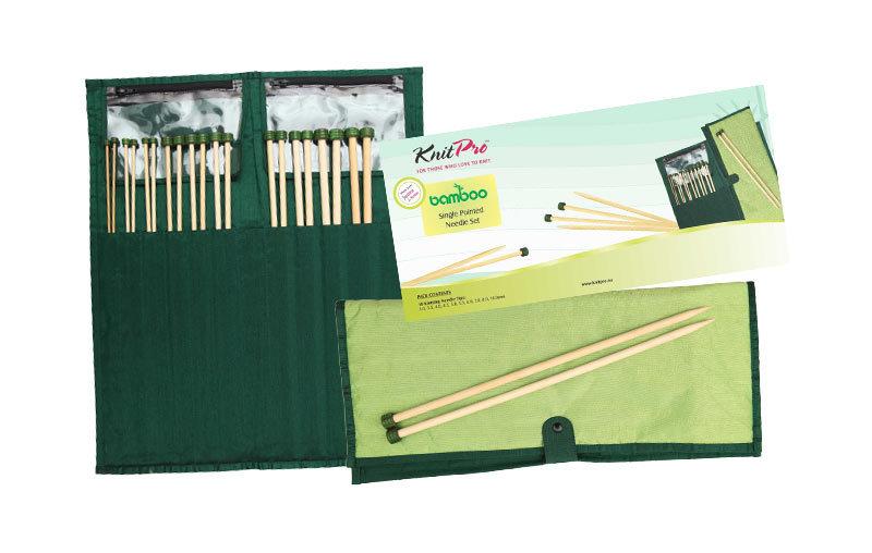 """22551 Набор прямых спиц длиной 33см """"Bamboo"""", KnitPro, Индия"""