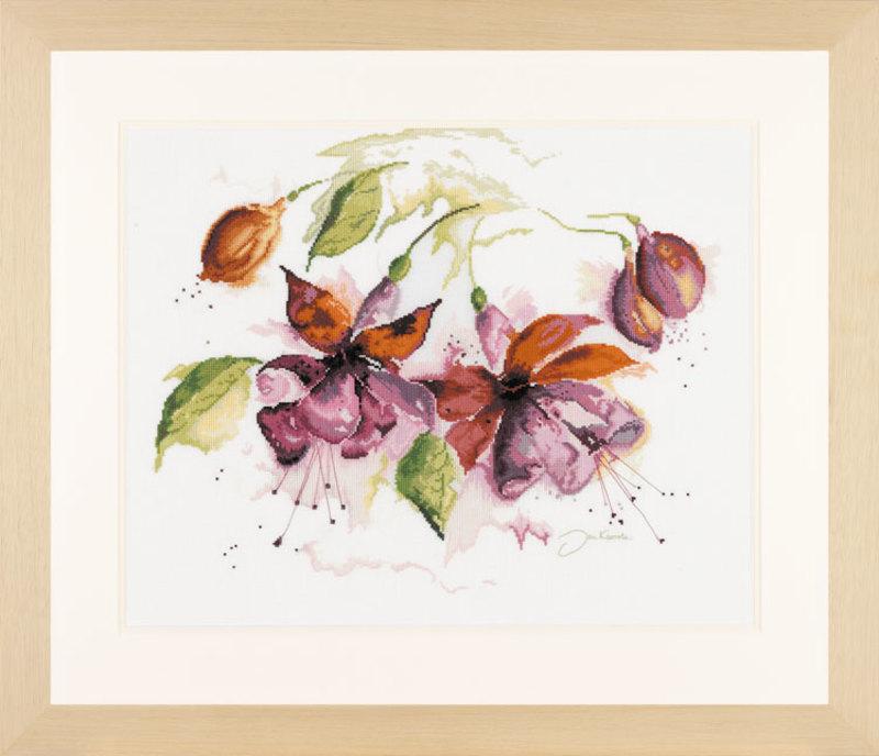 "PN-0008026 Набор для вышивания ""Fuchsia in aquarelle"" 49*39см, Vervaco, Бельгия"