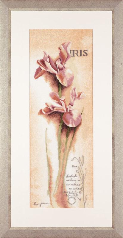 """PN-0008049 Набор для вышивания """"Iris botanisch"""" 20*60см, Vervaco, Бельгия"""