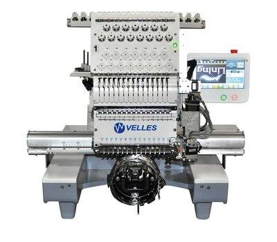 Промышленная одноголовочная компактная вышивальная машина VELLES VE 21C-TS Touch screen