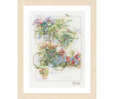 "НАБОР ДЛЯ ВЫШИВАНИЯ ""FLOWERS & BICYCLE"""