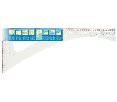 Лекало портновское многофункциональное, для раскроя, 60,5 X 24,5см