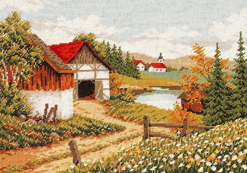"""Набор для вышивания """"Дом у озера"""""""