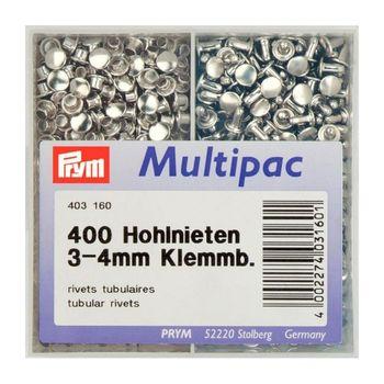 Клепки с отверстием, латунь, нержавеющие, д/толщины материала 3-4мм, серебристый