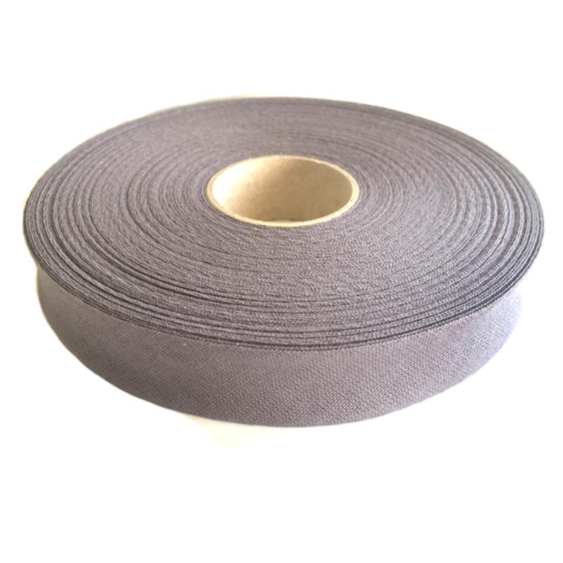 Косая бейка, хлопок, 40/20 мм, темно-серый, 30м в упаковке