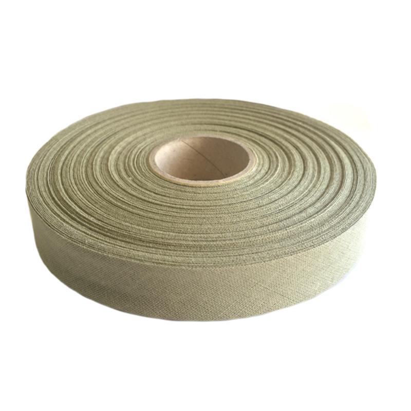 Косая бейка, хлопок, 40/20 мм цв. хаки, 30м в упаковке