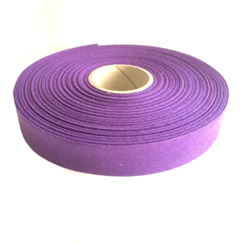 Косая бейка, хлопок, 40/20 мм фиолетовый, 30м в упаковке