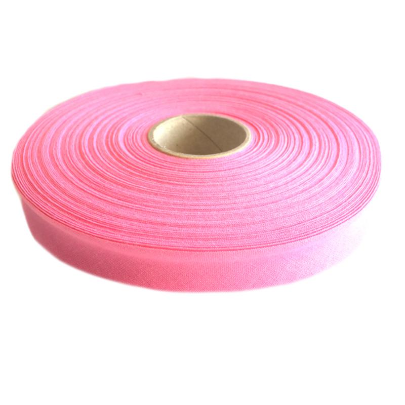 Косая бейка, хлопок, 40/20 мм розовый, 30м в упаковке